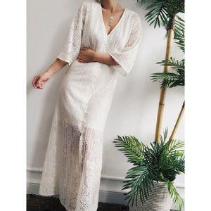 Dresses & Skirts - 🆕Taj Ivory Lace Button Front Maxi Dress